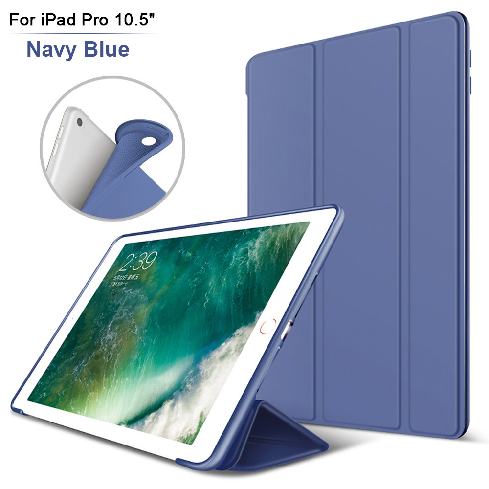 Flexible Soft TPU Shockproof Rubber Back Cover for iPad Pro 10.5 2017 Smart Case Cover Auto Wake Sleep For Apple iPad Pro 10.5 nice flexible tpu silicone case for apple new 2017 ipad 9 7 cover protect smart cover partner clear transperent bottom back case