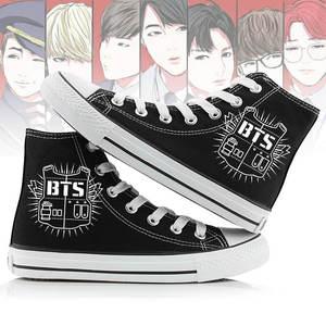 979885e4402db3 CUNDDIO Unisex Kpop BTS High Canvas Sneakers Women Shoes