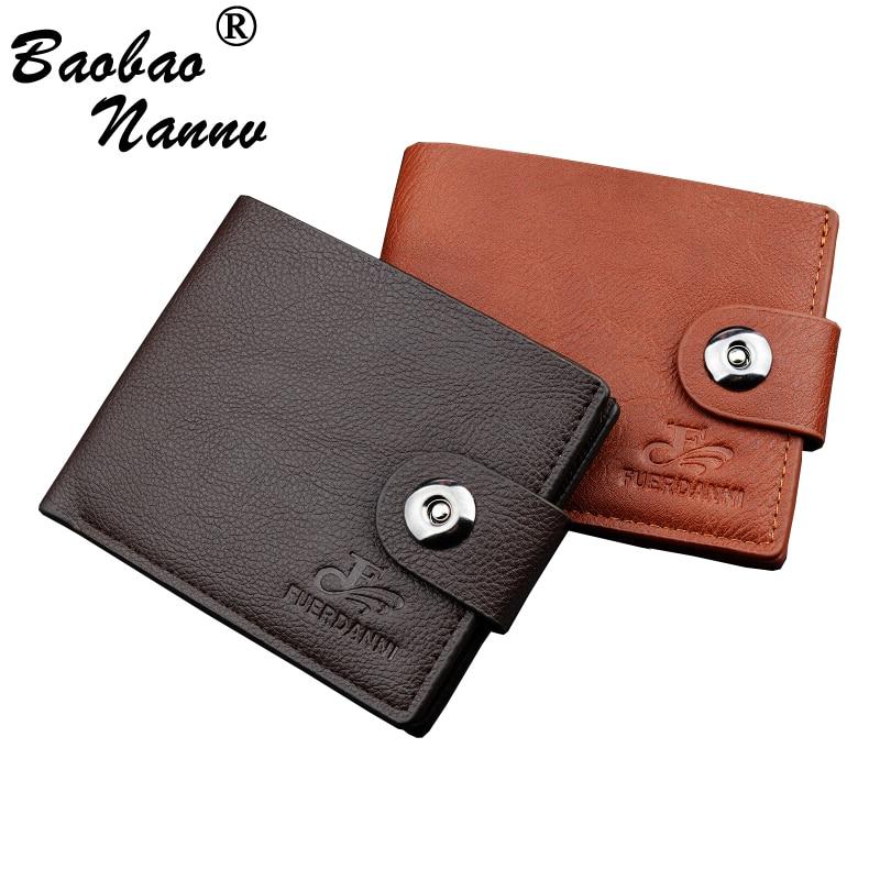 Soft Short Men Wallets 2019 New Casual Male Purses Credit Card Holder Small Clutch Purse Money Bag For Boy Vintage Men's Wallet