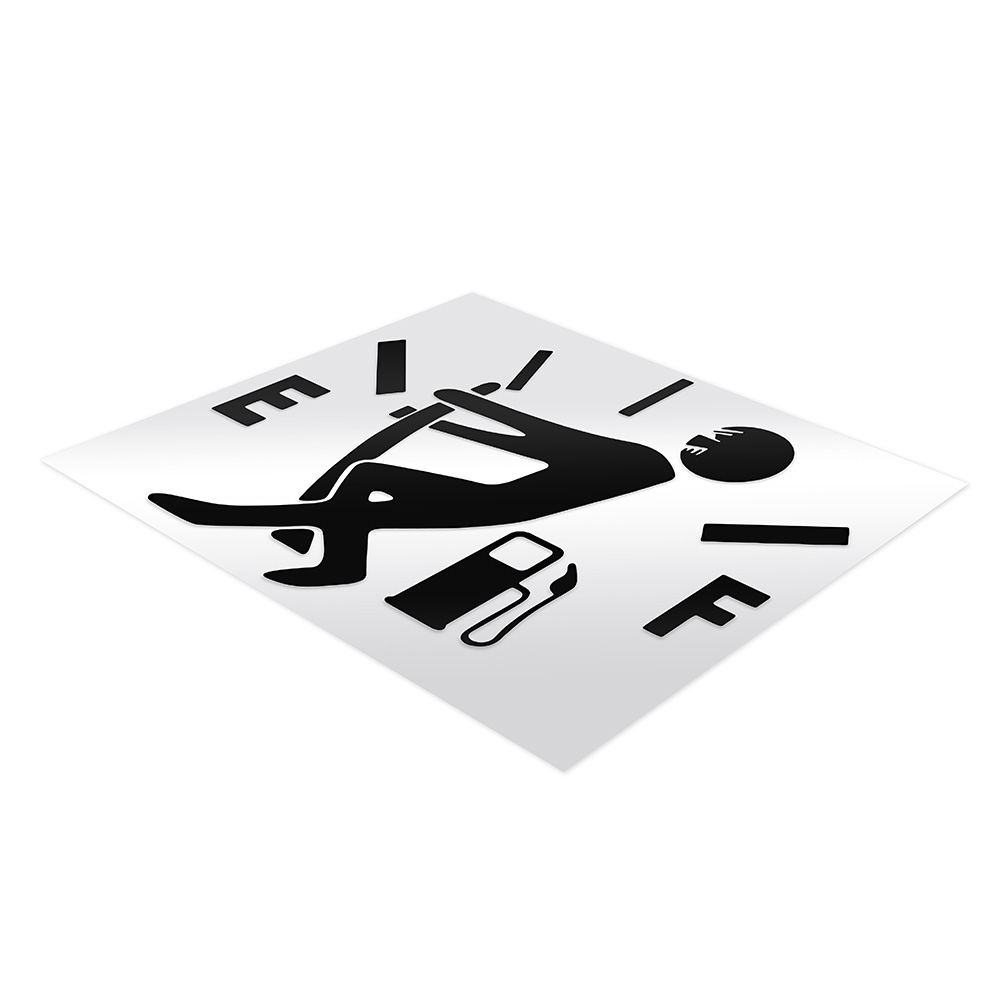 Image 4 - Funny Car Sticker Pull Fuel Tank Pointer Full Hellaflush Reflective Vinyl Car Sticker Decal Wholesale Car Stickers and Decals-in Car Stickers from Automobiles & Motorcycles