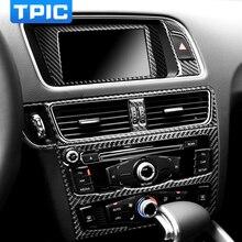 Автомобильные аксессуары для интерьера из углеродного волокна, автомобильный Кондиционер, CD панель, накладка, наклейки, навигационная рамка, Декоративные Чехлы для Audi Q5 SQ5