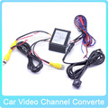 Car Parking Camera Video Two Channels Converter Auto Front / Side and Rear View Camera Video Control Box