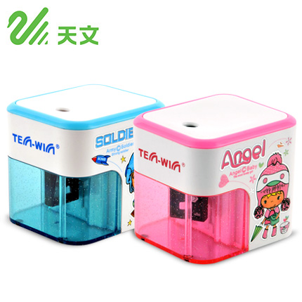 TENWIN Electric Pencil Sharpener Battery Operated Automatic Pencil Cutter 8003 for Office School Artists Adults Kids
