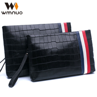 Wmnuo The Crocodile Grain Men S Handbags Genuine Leather 2017 The New Business Handbag Soft Leather