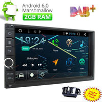7 Double 2Din HD Android 6 0 4 Core Car Auto Radio Stereo DAB WiFi 3G