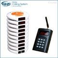 1 conjunto novo modelo de instalação pequeno long range wireless service chamando restaurante eletrônico beeper buzzer