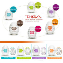 6pcs TENGA Egg Male Masturbator For Man Sex Pocket Pussy Realistic Vagina Japan Silicone With Lubricant Toys Men
