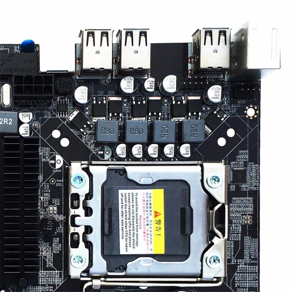 Desktop Motherboard Computer Mainboard For X58 LGA 1366 DDR3 16GB Support ECC RAM Wholesale new x58 motherboard desktop computer lga1366 cpu pin supports ddr3 16g ecc reg serve ram sata2 0 usb2 0