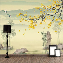New birds and flowers background wallpaper murals home decoration custom photo wallpaper 3d wallpaper artistic osmanthus tree hd hand painted flowers and birds wallpaper murals home decoration custom photo wallpaper