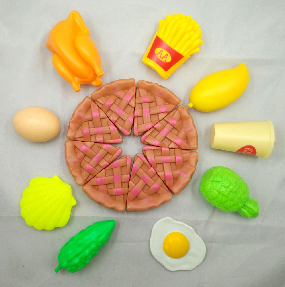 Childrens Toys Pizza Chicken Eggs Bitter Gourd Fruit And Vegetable Every Family Unisex Finished Goods Plastic Food