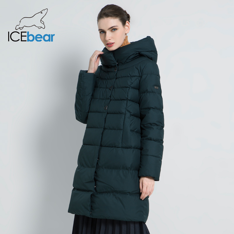 ICEbear 2019 New Winter Women's Coat Fashion Female Jacket High Quality Casual Jackets Hooded Parkas Brand Clothing GWD18077I-in Parkas from Women's Clothing    3