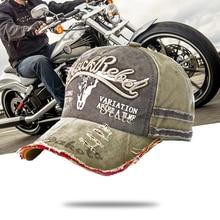 Punk Cappellini da Baseball Moto Cappello Papà Ricamo Lavato Snapback Cappello Casco Del Motociclo Caps Moto Biker Equitazione Berretti Unisex