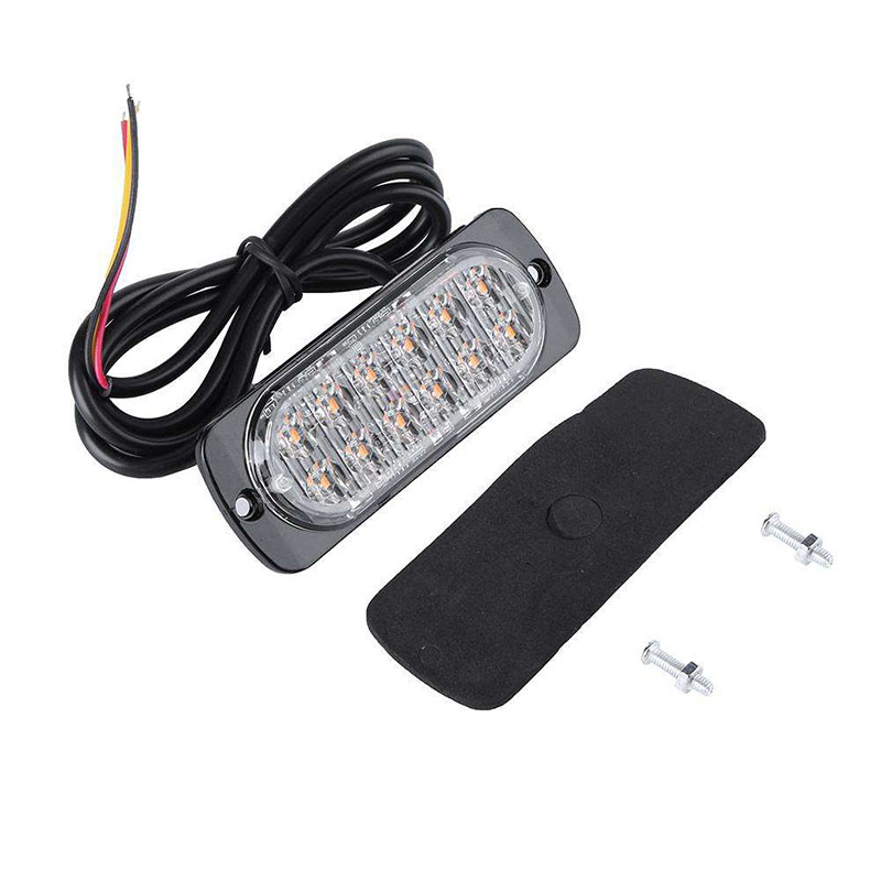 LED Ultra-Slim Car Emergency Truck Side Strobe Warning Light 36W Police Lights 12V-24V 12 LED Lights for auto