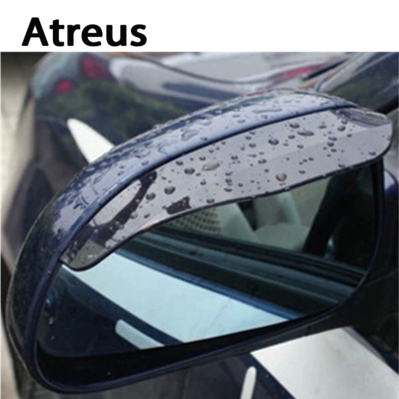 Atreus 2pcs/1pair Car Rain Eyebrow Styling Stickers For Ford Focus 2 3 Fiesta Toyota Corolla Avensis Mazda 3 6 cx-5 Accessorie adjustable led chips neon lamp car styling for ford focus 2 renault alfa romeo 159 147 156 166 mazda 3 6 2 cx 5 cx 7 accessories