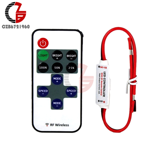 1 Set 12v Wireless Rf Remote Switch Controller Led Dimmer Control Receiver For Rgb Strip Light