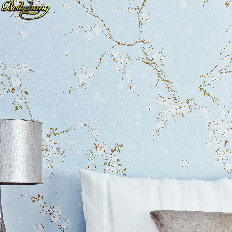 beibehang Vintage flower plum Luxury 3d wallpaper for walls 3 d mural papel de parede 3D wall paper rolls mural TV background beibehang custom 3 d mural ocean wallpaper setup tv wallpaper beach scene pictures 3 d wall paper free shipping papel de parede