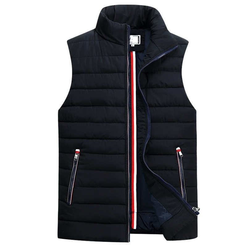 2019 Men's Sleeveless Vest Homme Winter Casual Coats Male Cotton-Padded Thickening Vest Men Waistcoat Plus Size 5XL