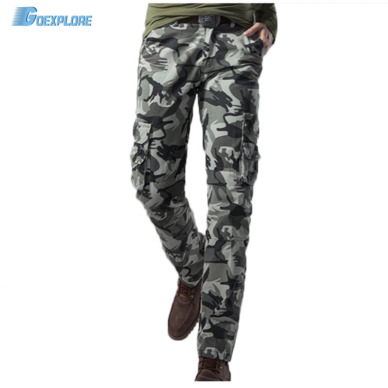 ФОТО Tactical Male Plus Size Cotton Breathable Multi Pocket Military Army camping hunting Camouflage Camo Cargo Pants For Men