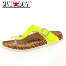 цены на MVP BOY23 color New 2018 summer women flats sandals Cork slippers unisex casual shoes print mixed colors flip flop free shipping  в интернет-магазинах