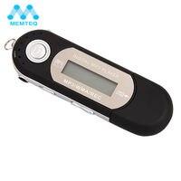 Memteq переносной MP3-плееры fm Радио USB Mini ЖК-дисплей Экран Поддержка 8 ГБ флэш-диск MP3 аудио плеер с наушники