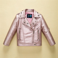 Leather Jacket for Boys Girls Autumn Fashion Brand Coat Toddler Children Clothes 2018 Winter Kids Baby Jackets Infant Outerwear