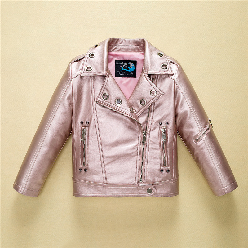 Leather Jacket for Boys Girls Autumn Fashion Brand Coat Toddler Children Clothes 2019 Winter Kids Baby Jackets Infant Outerwear