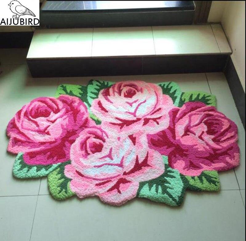 Tapis tapis coussin manuel guns n rose artificielle rose fleurs salon a un chevet salle de bain sol tapis broderie tapis