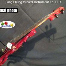 Хорошая песня парка красного цвета оптимизировать 4/4 Электрический Скрипки, твердой древесины#7579