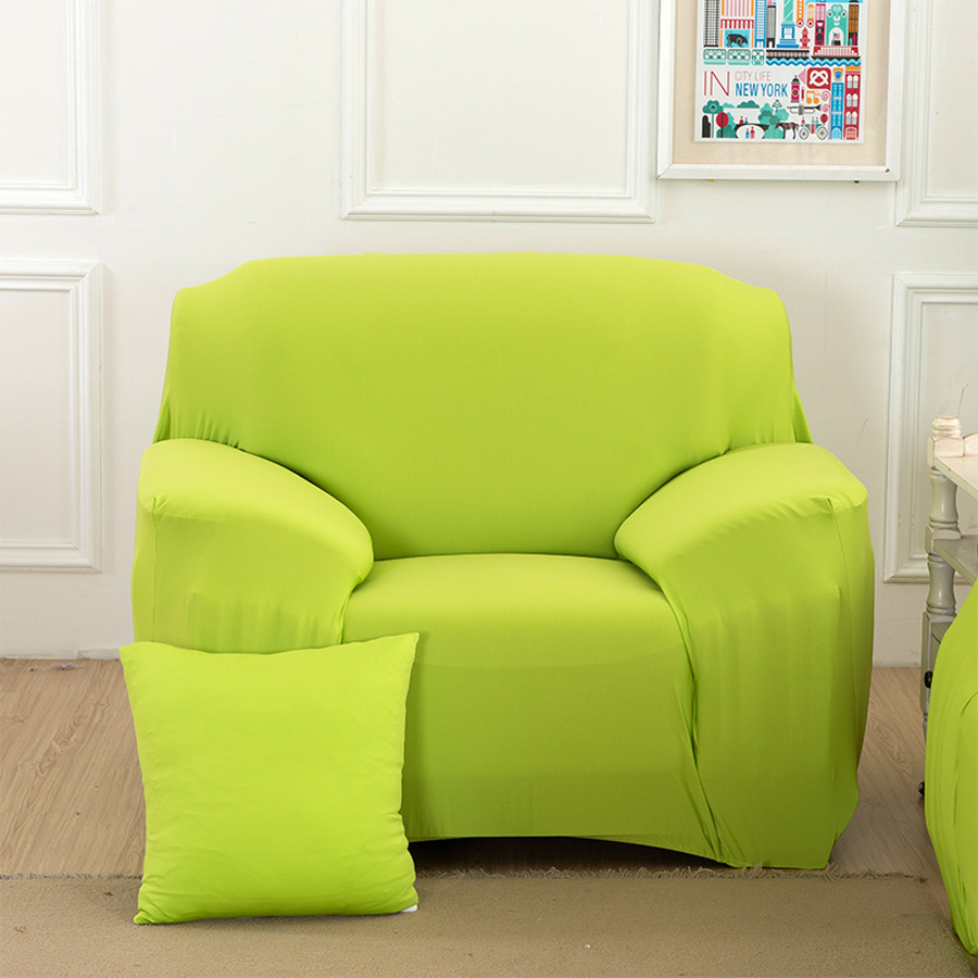 New Slipcover Stretch Sofa Cover Sofa With Loveseat Chair: Green,Drawing Room 3 Seat All Inclusive Slip Resistant
