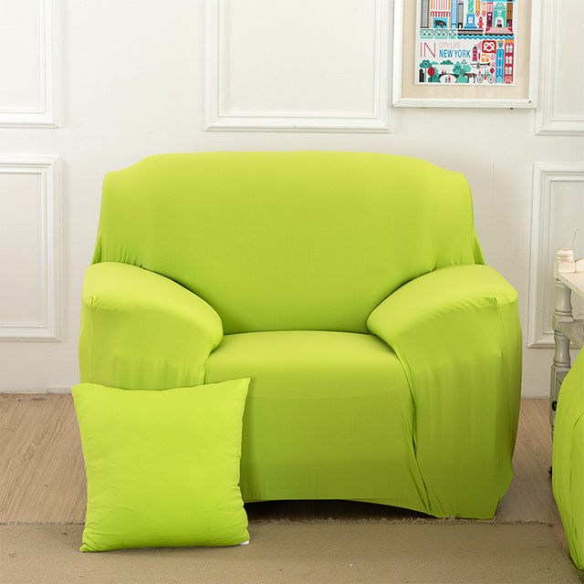 Green,Drawing Room 3 Seat All Inclusive Slip Resistant Sofa Covers Stretch