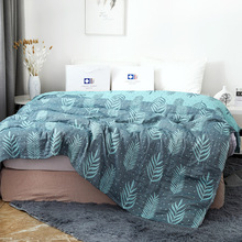 子供寝具毛布 150*200 センチメートルモスリンコットン 4 層大人の空調カバー毛布子供厚い寝具