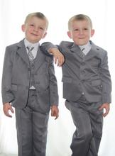 Boys Wedding Attire Children suits For Special Occasion Customized (Jacket+Pants++Vest+ Tie) Formal Dresses For Boys