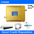 Impulsionadores Do Sinal Lintratek GSM 900 1800 Display LCD Dual Band 900 + 1800 MHz Mobile Phone Signal Booster Repetidor de sinal Completo Kits