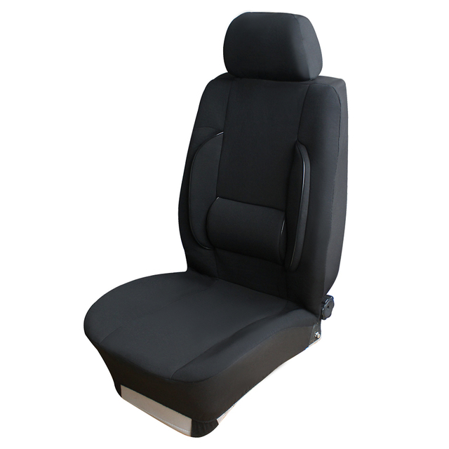 massage chair pad for car. 1 pcs front car seat covers with lumbar support auto massage chair cushion pad black for i