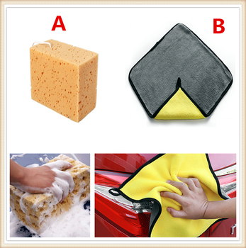 Car Auto Washing Sponge Tools Block Cleaning Drying Towel Cloth FOR Suzuki Aerio Ciaz Equator Esteem FOR enza FOR sa Grand image