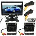 2x IR Car Rear View Camera Reversa Back up 7 polegadas LCD Monitor de Visão Traseira Do Carro Invertendo Kit para Bus caminhão