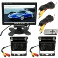 2x IR Car Rear View Reverse Back up Camera 7 Inch LCD Monitor Car Rear View Reversing Kit for Bus Truck