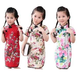 4bc7779fb419d Hooyi 2018 Year Baby Girl Dress Children Clothes Floral
