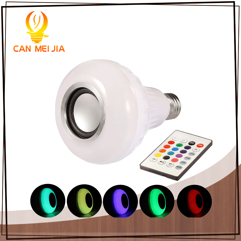 New Wireless Bluetooth Lamp Led E27  Bulb RGB Music Playing Dimmable Bulbs Lights Remote Control Leds Light Bulb led energy saving bulb intelligent bluetooth control bulb lamp bulb full color e27 screw screw music lamp