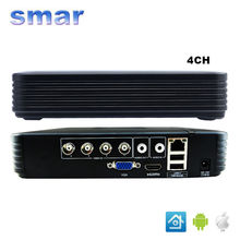 CCTV Professional Mini DVR 4 Channel Video Recorder 960H  H.264 4CH Hybrid AHD DVR for 720P AHD Camera IP Camera P2P Cloud Hot