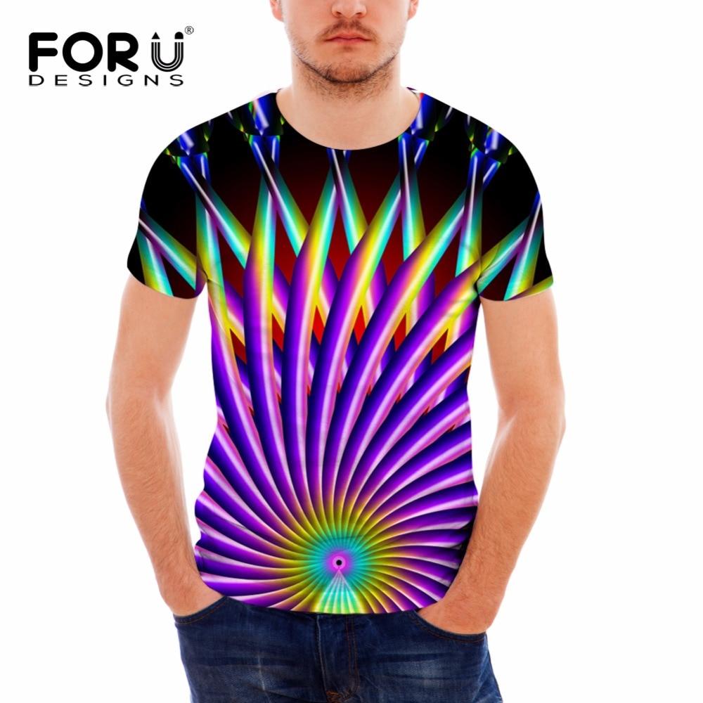 FORUDESIGNS Hot Summer T Shirt Men S Casual Tee Tops Fashion 3D Pattern Short Sleeved Tees
