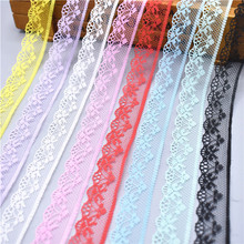 10 Yards Lace Ribbon Tape 20MM Wide Trim Fabric DIY Embroidered wedding Net Cord For Sewing Decoration african lace fabric 10 meters lace ribbon tape 45mm wide trim fabric diy handicrafts embroidered net cord for sewing decoration african lace fabric