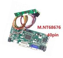 цена на Controller board driver for LP156WH3(TL)(D1)/(TL)(E1) 1366*768 Screen Panel VGA 40pinM.NT68676 HDMI DIY  LED LCD DVI  Kit