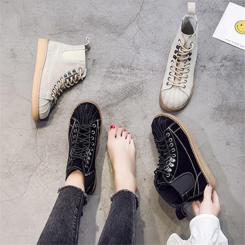 Mujer Casual Zapatos Cuir Hiver De Noir khaki Chaussures En Mode Martin Cheville Femmes Femme Véritable Bottes q7awvqB