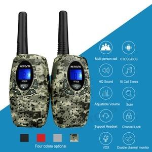 Image 2 - Talkie walkie jouet RT628 2 pièces Mini Radio pour enfants 0.5W PMR PMR446 FRS GMRS 8/22CH VOX enfants 2 voies Radio cadeau de noël