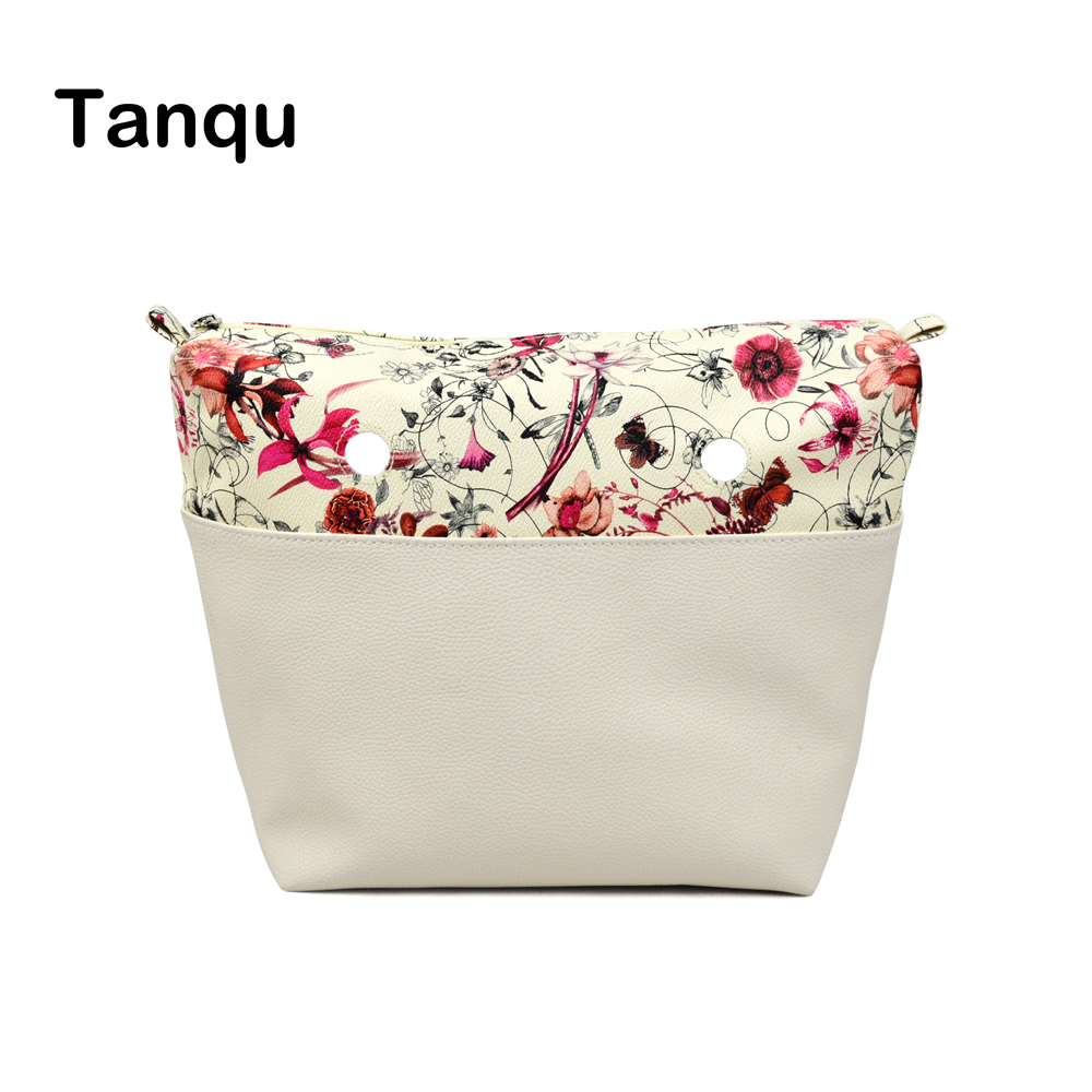 TANQU Classic Mini Flower Combined solid PU Leather Inner  Pocket Lining Waterproof Insert for Obag EVA O BAG Women Handbag 12mm waterproof soprano concert ukulele bag case backpack 23 24 26 inch ukelele beige mini guitar accessories gig pu leather