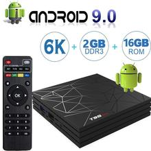 лучшая цена TV BOX T95 MAX Android 9.0 Smart 6K 4GB RAM 64GB ROM Allwinner H6 Quad Core H.265 HD 2.4G Wifi set-top tvbox T95MAX Set Top Box