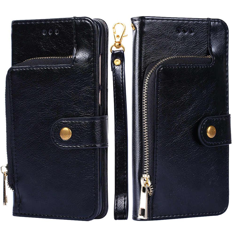 سستة محفظة قلابة جلدية حقيبة لهاتف سامسونج غالاكسي S10 لايت S9 S8 زائد S7 S6 حافة زائد ملاحظة 9 8 5 4 3 m20 M10 غطاء