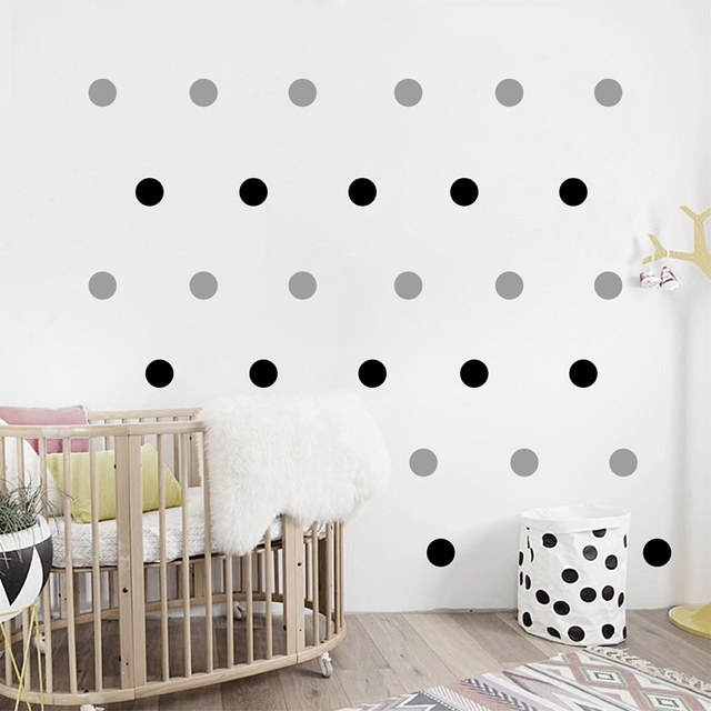 Gold Polka Dots Wall Sticker Decal Removable Home Decoration Art Decor Free Shipping