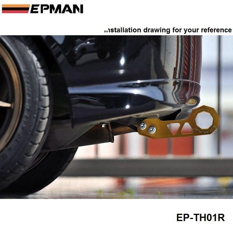 Заготовка алюминиевый задний буксировочный крюк Universalcar такой как для Skyline 200SX R33 S13 S14 EP-TH01R